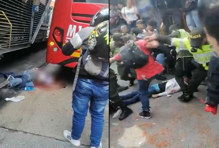 Accidente en Transmilenio