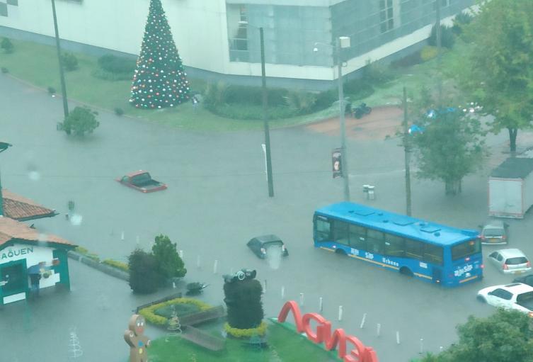 Inundación en el norte de Bogotá