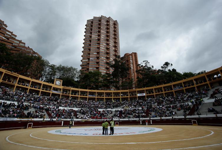 Plaza de Toros La Santamaría y Torres del Parque, en Bogotá