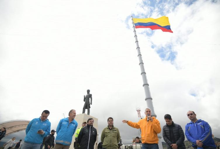 Bandera más alta en Colombia