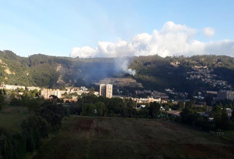 Incendio en el norte de Bogotá