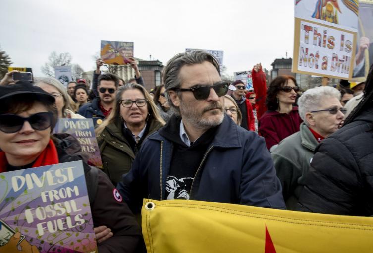 El 'Joker' fue detenido por protestar contra el cambio climático