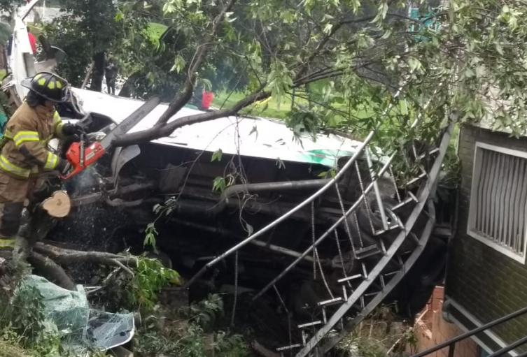 Accidente Ruta escolar en San Cristobal