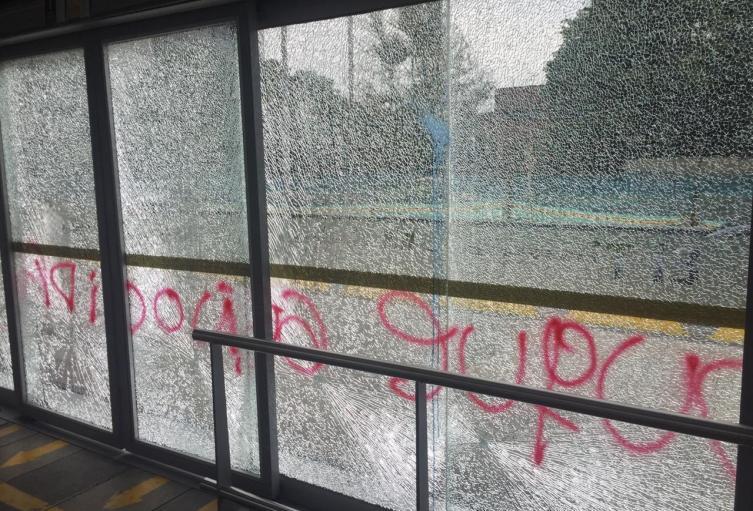 Estación de TM vandalizada