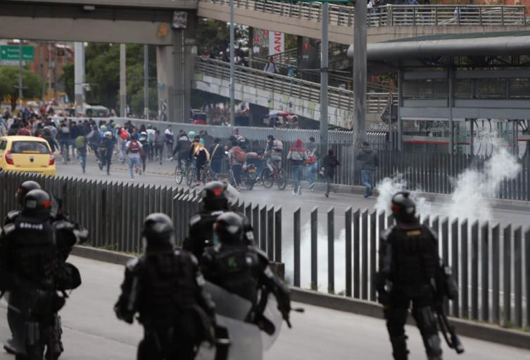 Enfrentamientos en la avenida de las Américas