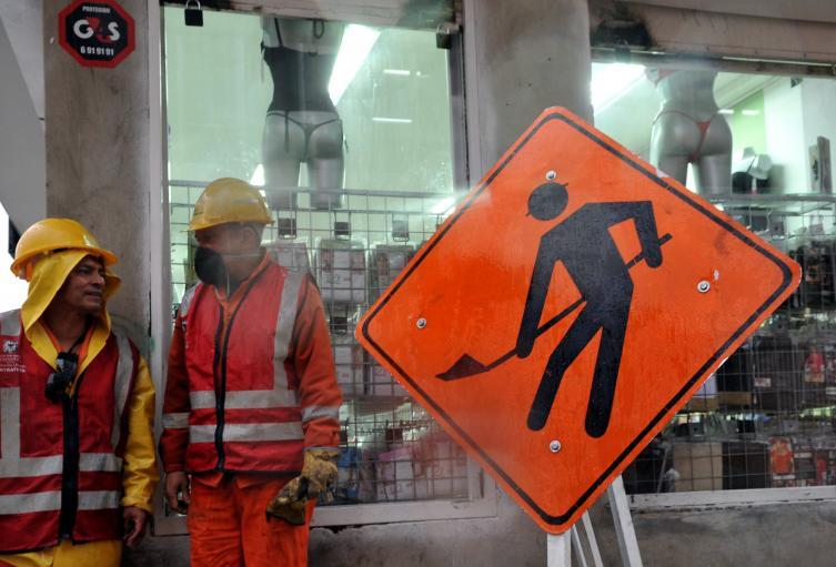 Trabajadores y obreros colombianos, en Bogotá