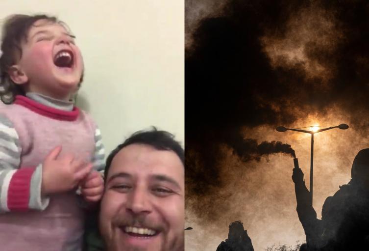 Al estilo de la vida es bella: Padre logra hacer feliz a su hija en medio de la guerra