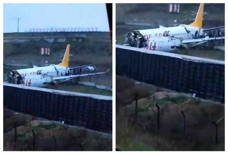 Avión partido en Estambul