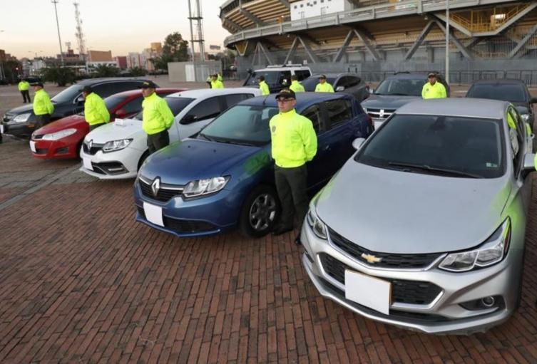 Carros robados en Bogotá