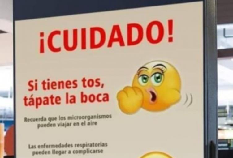 El Emoji con que se quiso ejemplificar equivocadamente una tos.