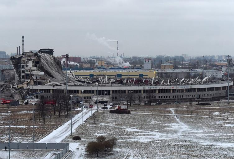Desplome de edificio en San Petersburgo