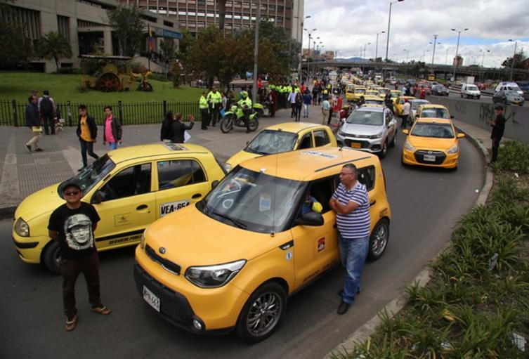 Taxistas en Bogotá