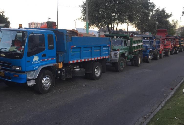 Camioneros protestanto