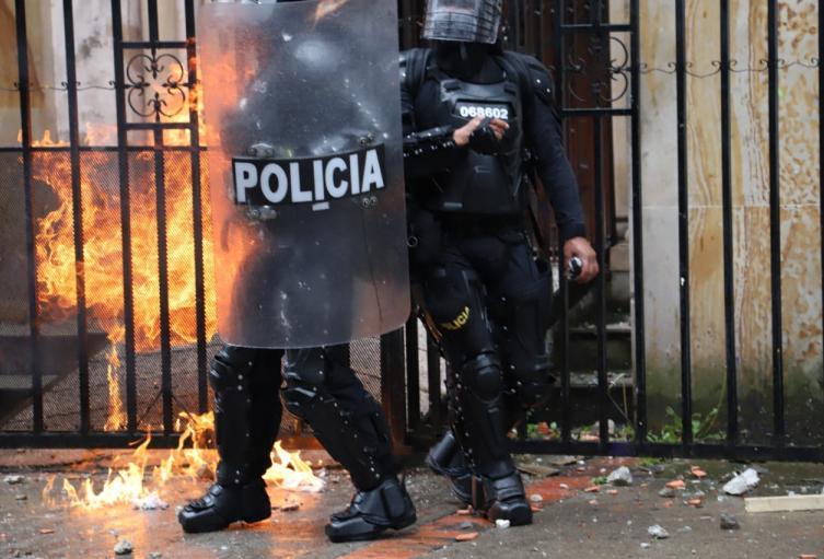 Disturbios en la distrital - Febrero 21