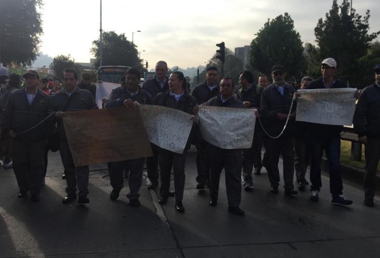 Protesta en Transmilenio