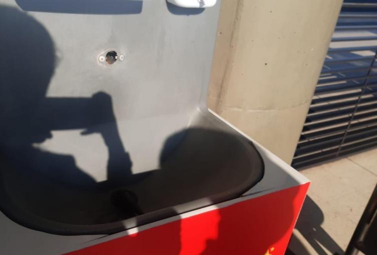 Daños en lavamanos portátiles en Transmilenio