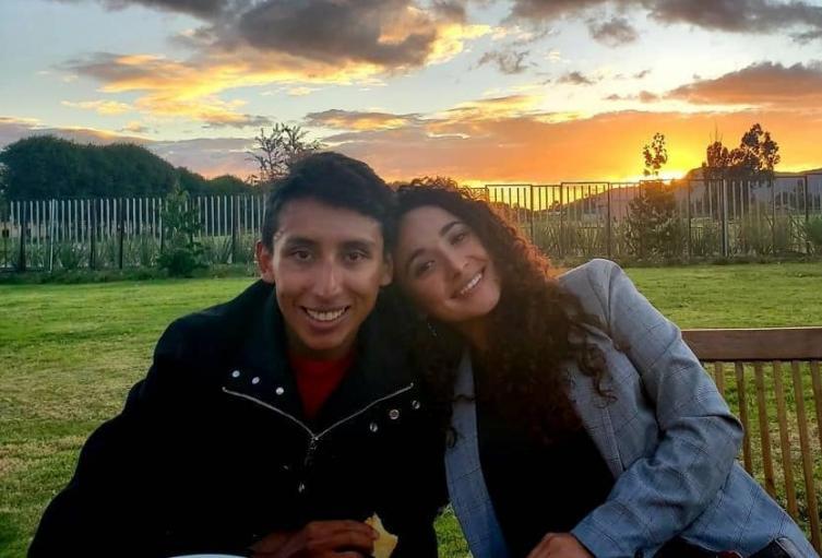 Egan Bernal y Xiomara Guerrero
