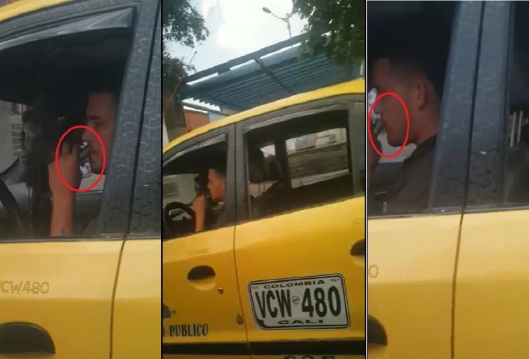 Pillan a taxista metiendo pegante