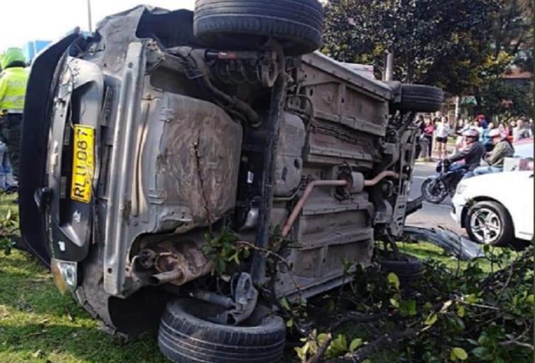 Accidente en la Avenida Villavicencio