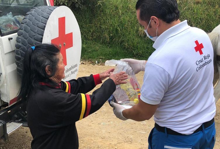 Ayudas humanitarias en Bogotá en medio de la cuarentena.