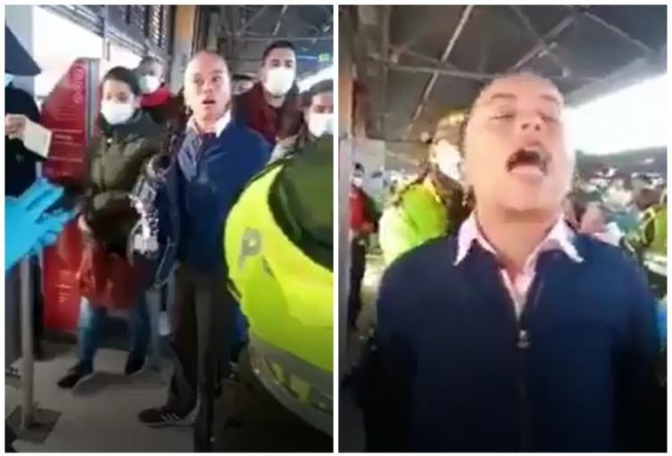 Mujer agrede a policías en el Portal El Tunal