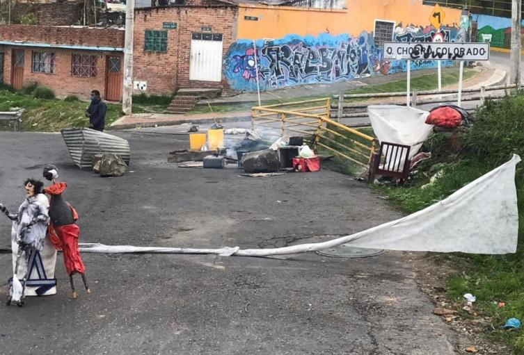 Cuarentena en Bogotá / protestas por entrega de ayudas