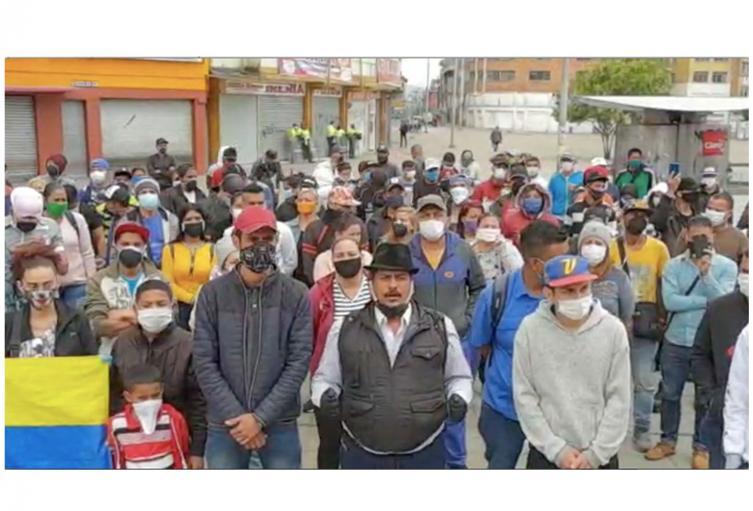 Venezolanos pide ayuda para volver a su país
