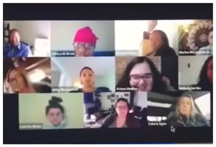 Videollamada laboral