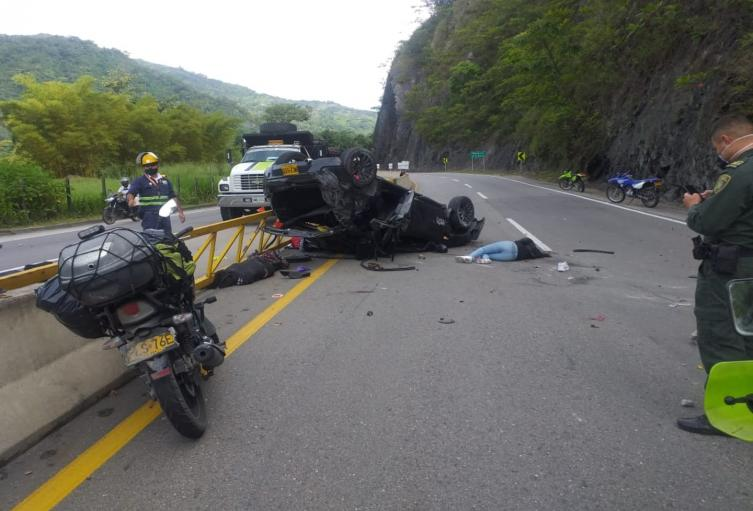 Accidente en Villeta- Cundinamarca deja mujer muerta