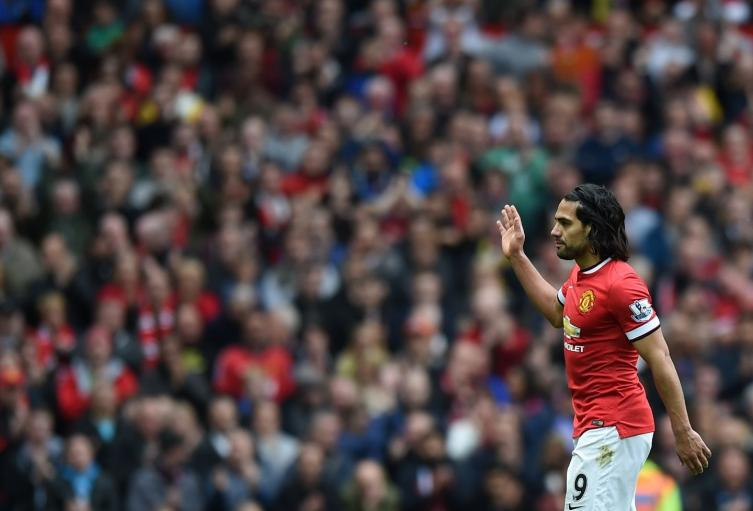 Falcao en su paso por el Manchester United