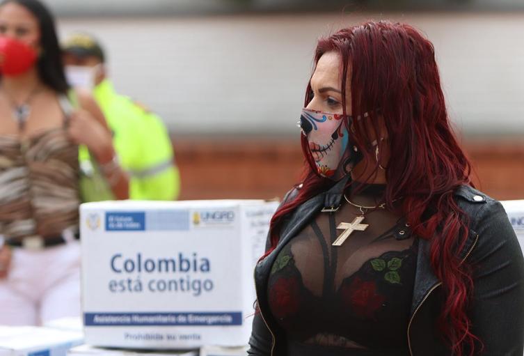 Entrega de ayudas a comunidad LGBTI de Bogotá / Cuarentena en Colombia