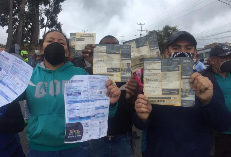 Noticia Bogotá: Protestas en Usme por aumento en servicios ...