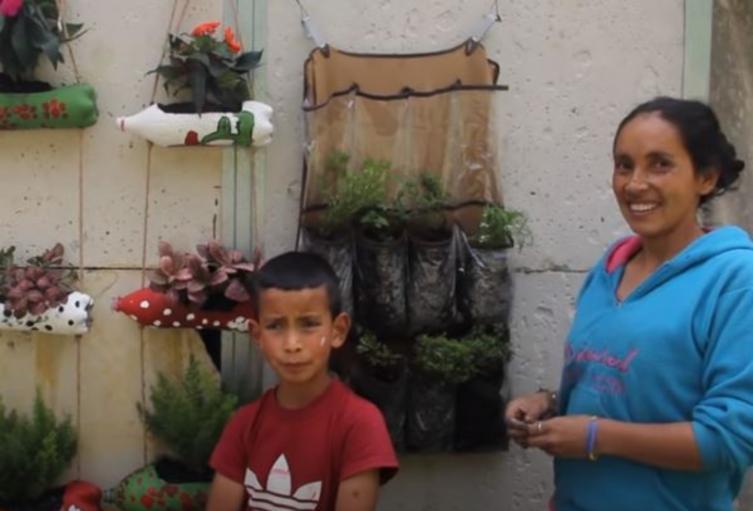 Familia youtuber enseña a sembrar huerto en la casa.