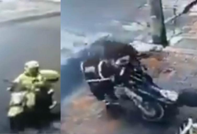 Irregularidad de policías con moto en Chapinero