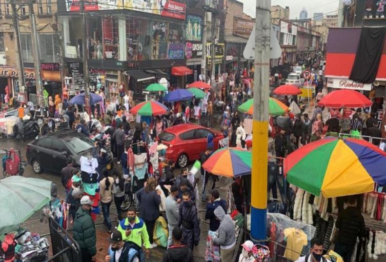 Noticia Bogotá: Registran aglomeración de gente en San Victorino | Alerta  Bogotá