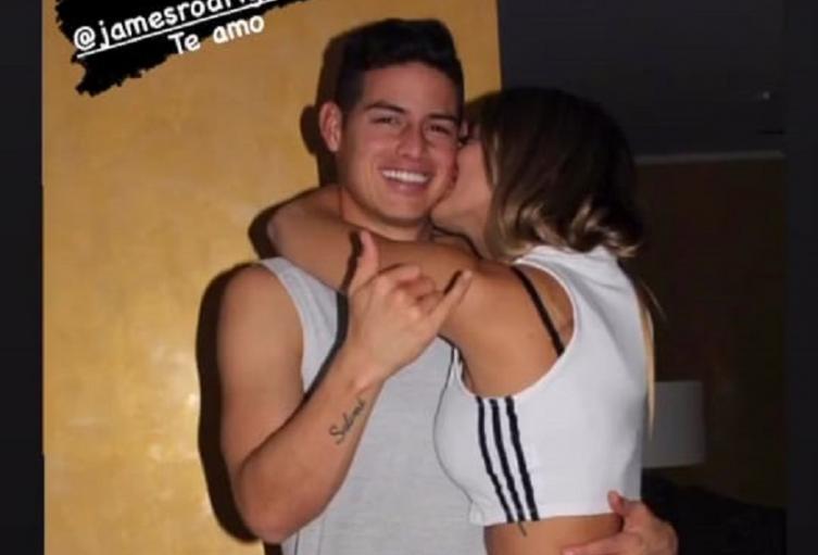 James Rodríguez y Shannon de Lima