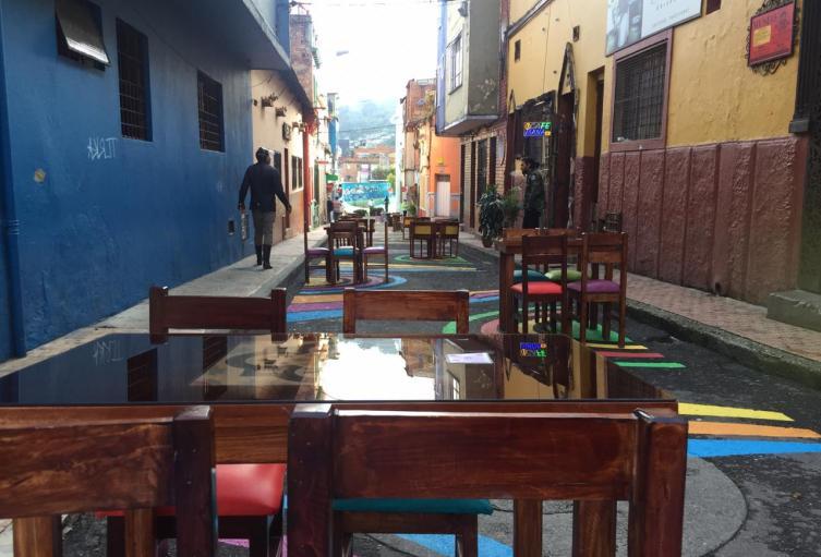 Restaurantes al aire libre, en Bogotá