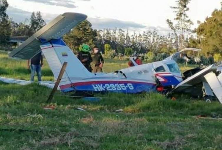 Avioneta accidentada en Ubaté