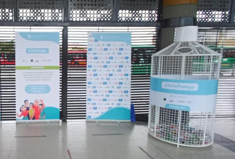 Campaña de reciclaje en Bogotá.