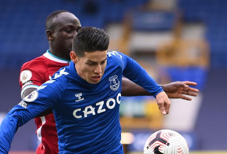 James Rodríguez, Everton vs Liverpool
