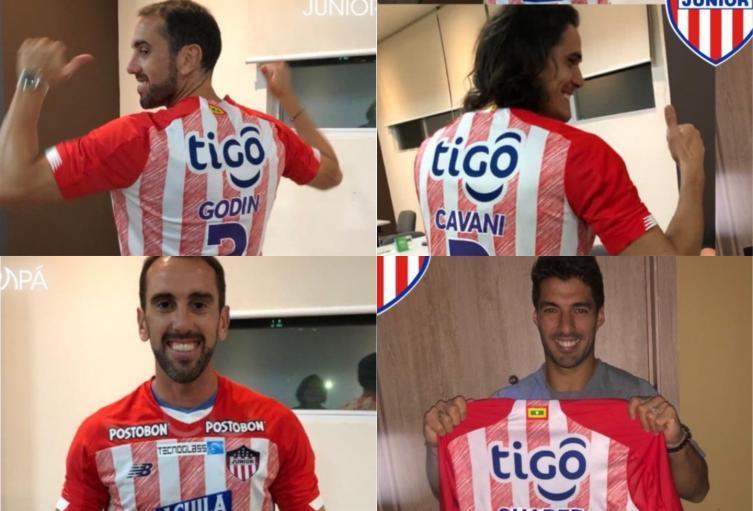 Diego Godín, Edinson Cavani y Luis Suárez