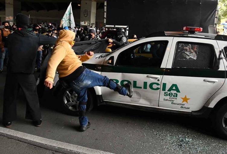 Protestas en Bogotá 21 de noviembre
