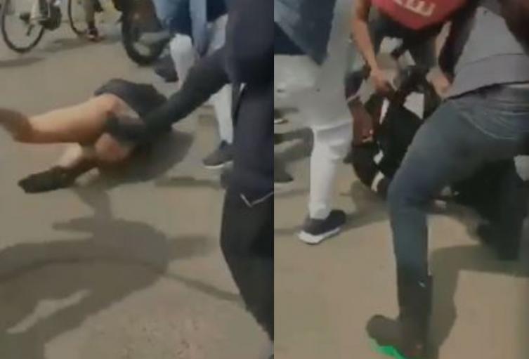 Ladrón fue golpeado y desnudado tras intentar robar con machete en Bogotá