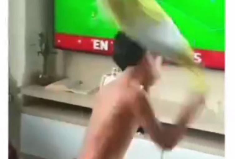 Reacción de niño tras derrota de Colombia