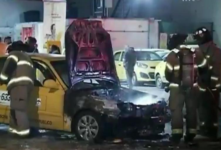 Incendio de taxi