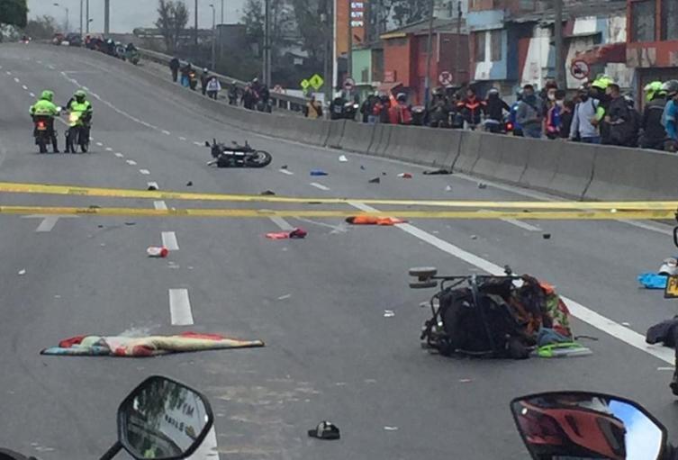 Moto a gran velocidad mató a bebé