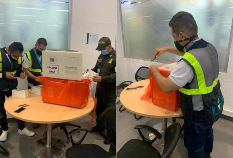 Vacunas decomisadas en El Dorado
