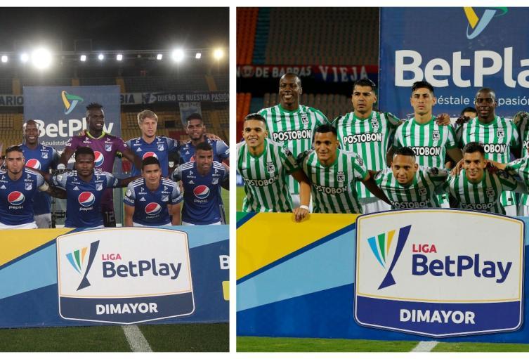 Millonarios y Atlético Nacional, 2021