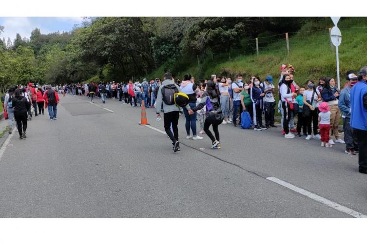 Monserrate y las aglomeraciones en Bogotá