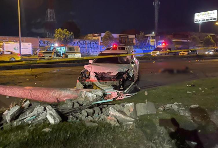 Accidente de tránsito en Puente Aranda